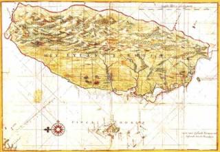 一六三六年測繪的台灣地圖