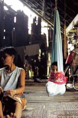 印尼加里曼丹傳統育兒袋