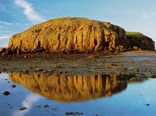 玄武岩氧化岩層