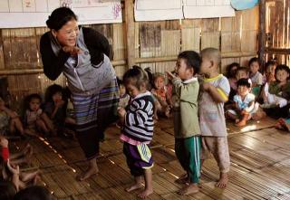孩童受國際支援