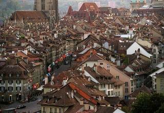 瑞士首都伯恩的舊城區