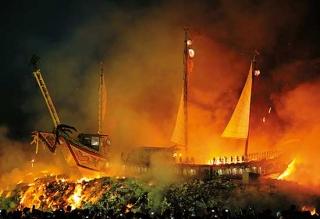 東港燒王船