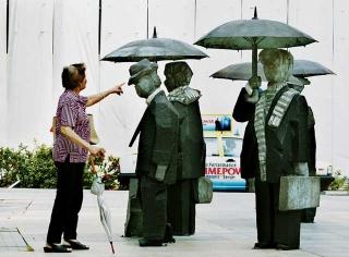 朱銘的作品「人間系列:紳士」