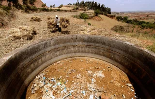 蓄水池乾涸許久
