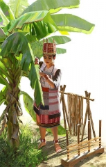噶瑪蘭族婦女衣著形式