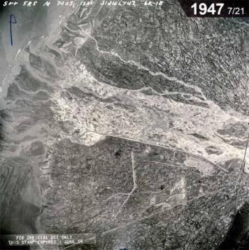 大甲溪沖積扇 1947.7.21