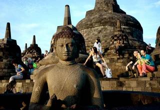 印尼日惹(Yogyakarta)的婆羅浮屠(Borobudur)