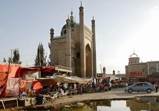 加滿清真寺位於新疆葉城縣