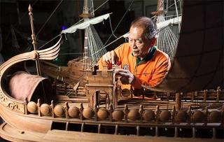 製作西洋戰艦模型船