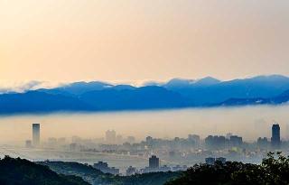 台北盆地景色