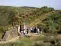 擎天崗上重建的石牆