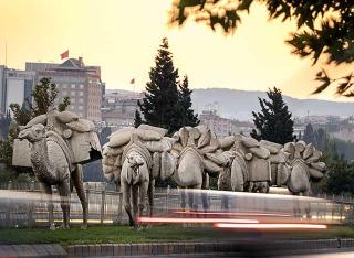 駱駝商旅雕塑
