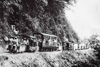山地運材軌道車