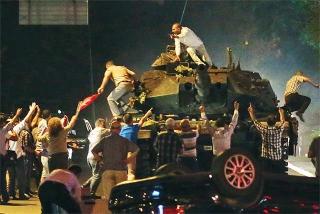 鎮壓在首都安卡拉示威的民眾