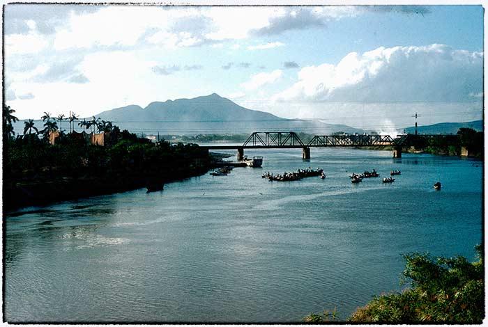 1960,台北,淡水線鐵路基隆河橋