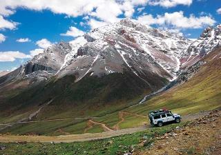 從西藏前往不丹邊境的路上