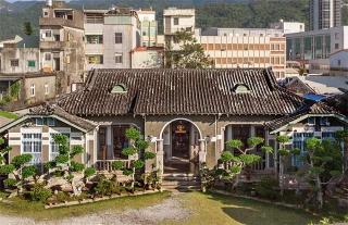 融合西洋柱式、日本瓦片造的漢人合院