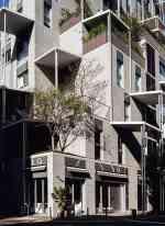 幾何堆疊的建築外觀