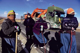 朝聖的藏民