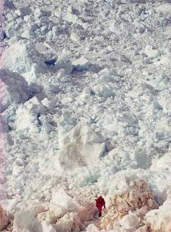 南極達爾可冰河與達爾可灣接壤處