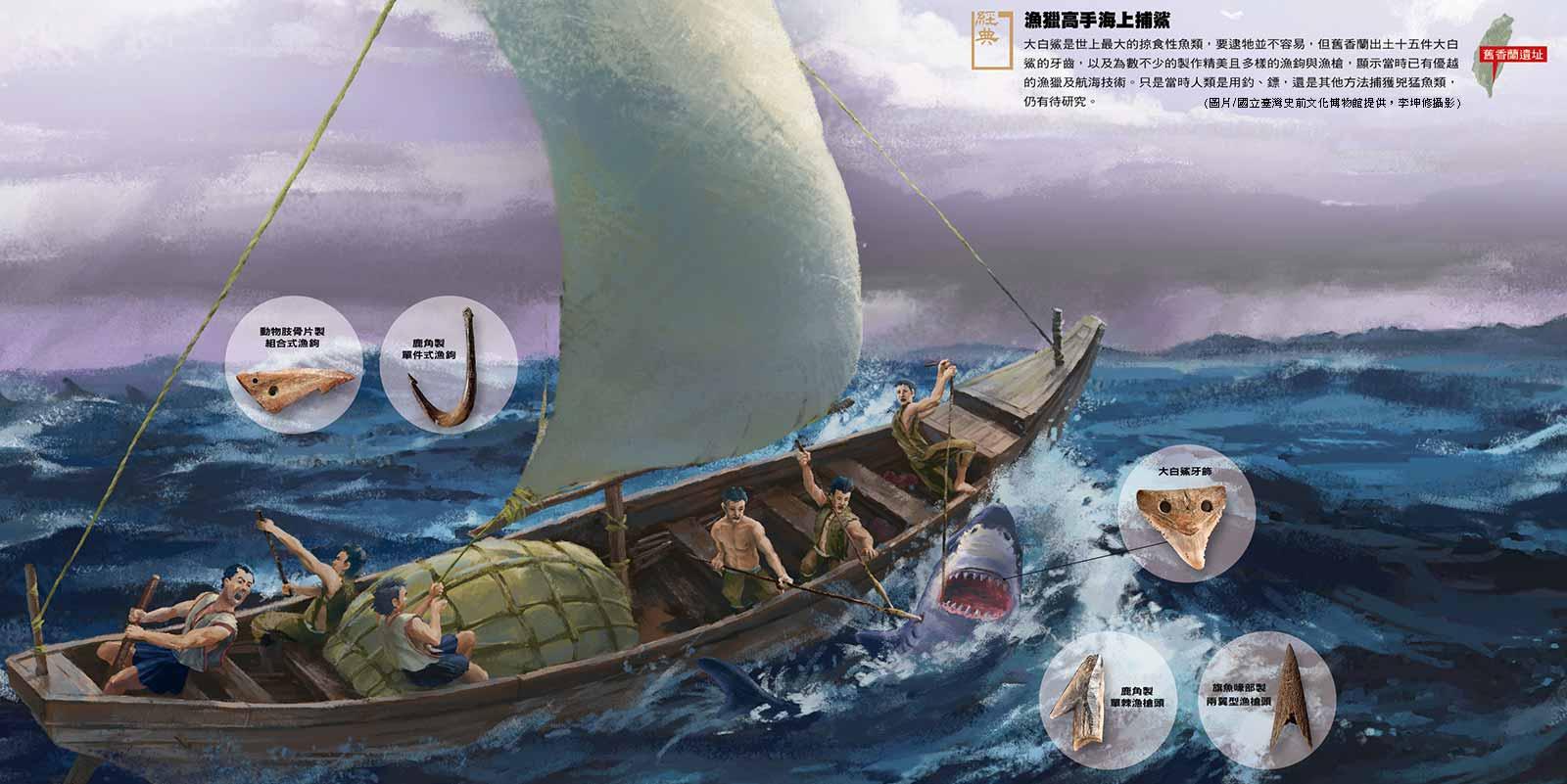 舊香蘭遺址─漁獵高手海上捕鯊
